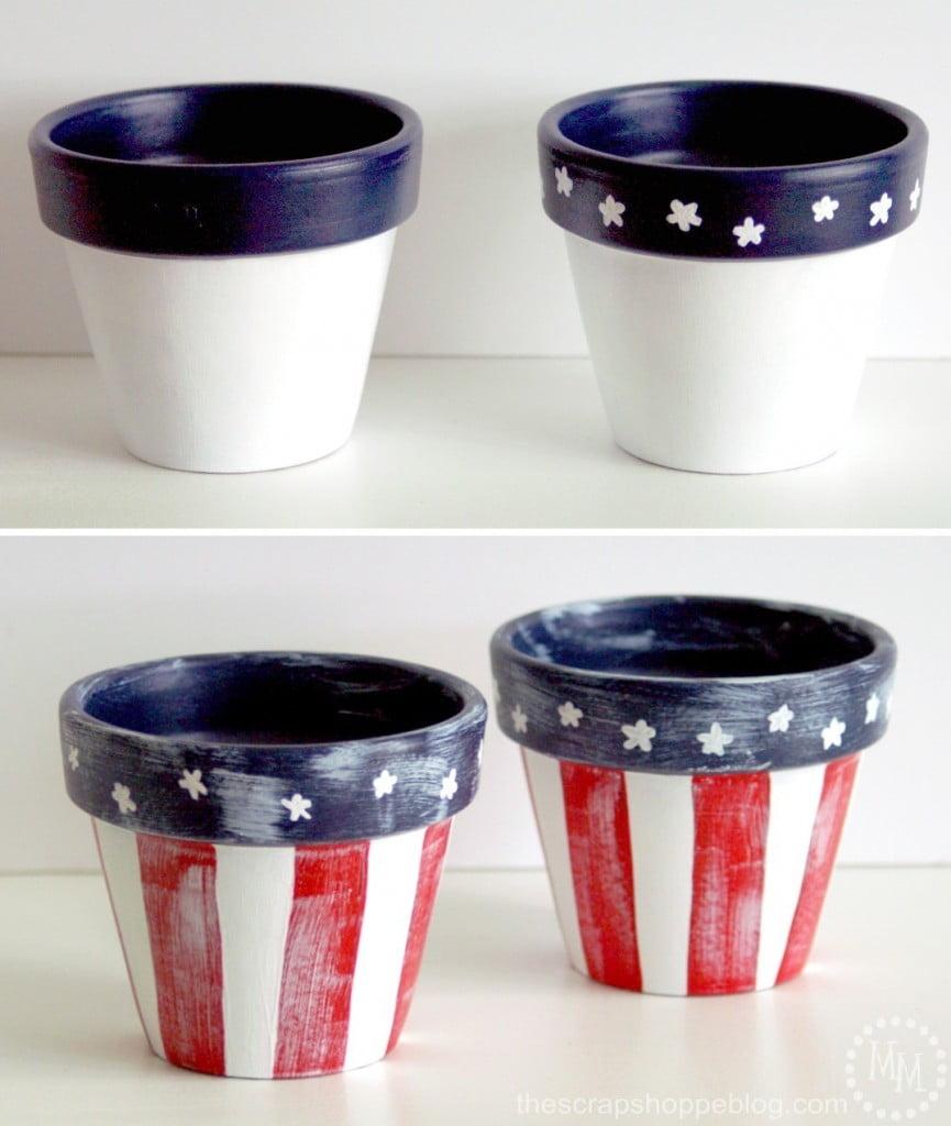 Star Spangled Flower Pots