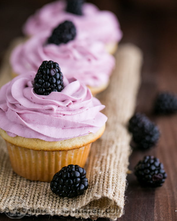 Greek-Yogurt-Cupcakes-with-Blackberry-Frosting-@NatashasKitchen-5-2