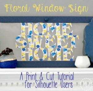 Custom Floral Printed Vinyl - Print and Cut Technique for Silhouette Users + DOZENS OF OTHER VINYL PROJECT IDEAS WITH VINYL EXPRESSIONS