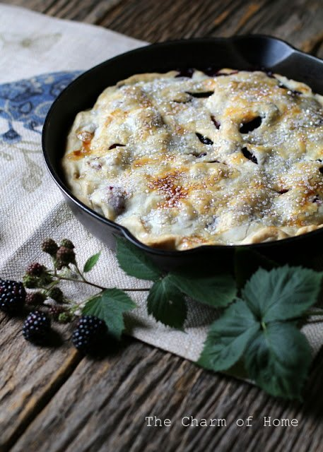 blackberry-apple-skillet-pie