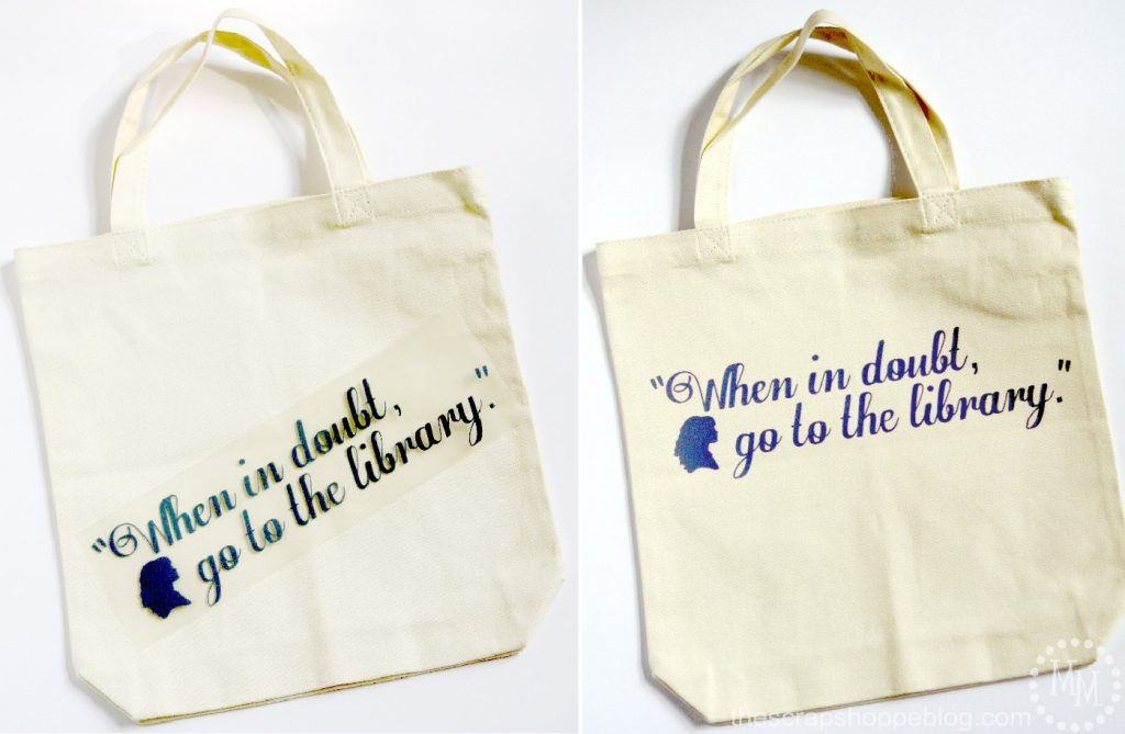 Hermione Library Tote - quote from Harry Potter and the Chamber of Secrets