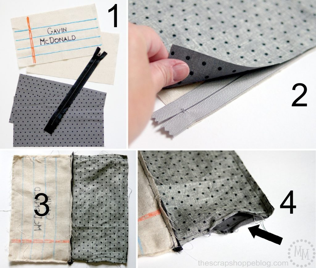 Painted Notebook Paper Pencil Pouch