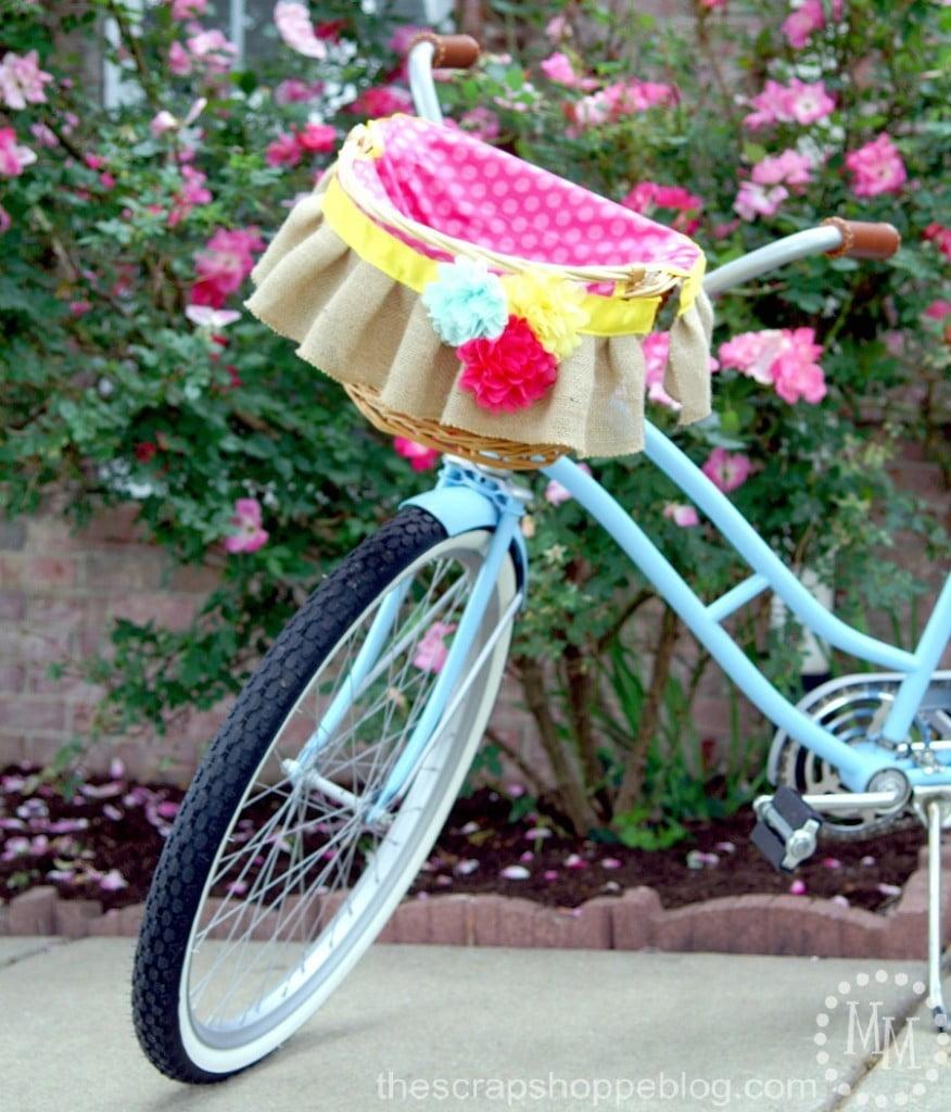 DIY Bicycle Basket Liner