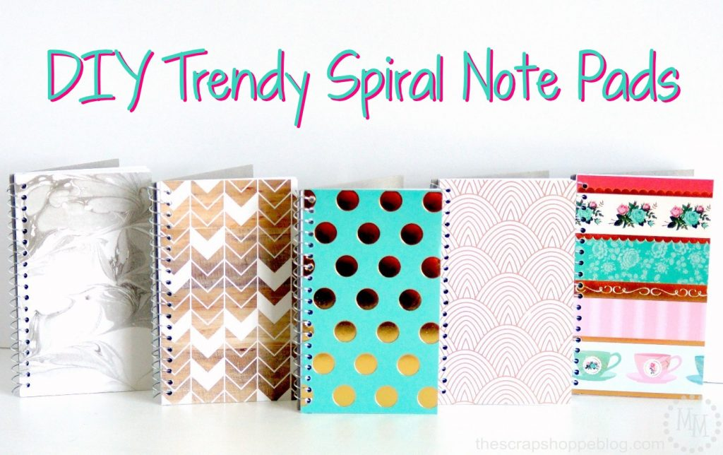 Diy glitter notebook cover - Diy Trendy Spiral Note Pads