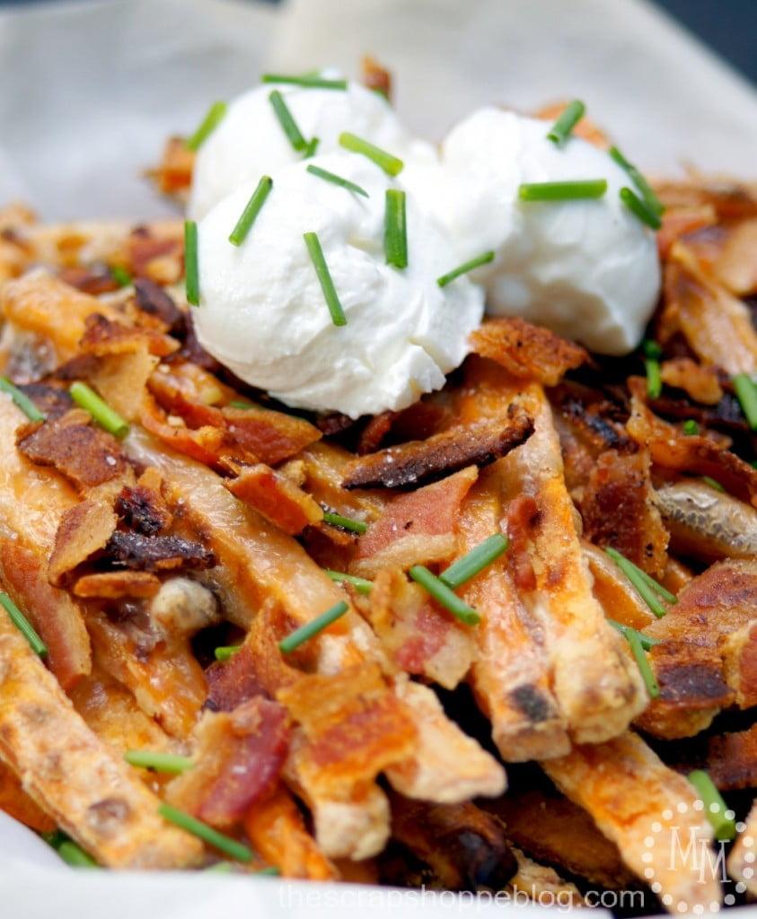 Baked Sweet Potato Brie Fries Recipe