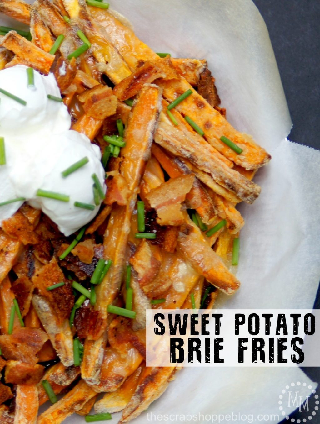 Sweet Potato Brie Fries Recipe - The Scrap Shoppe