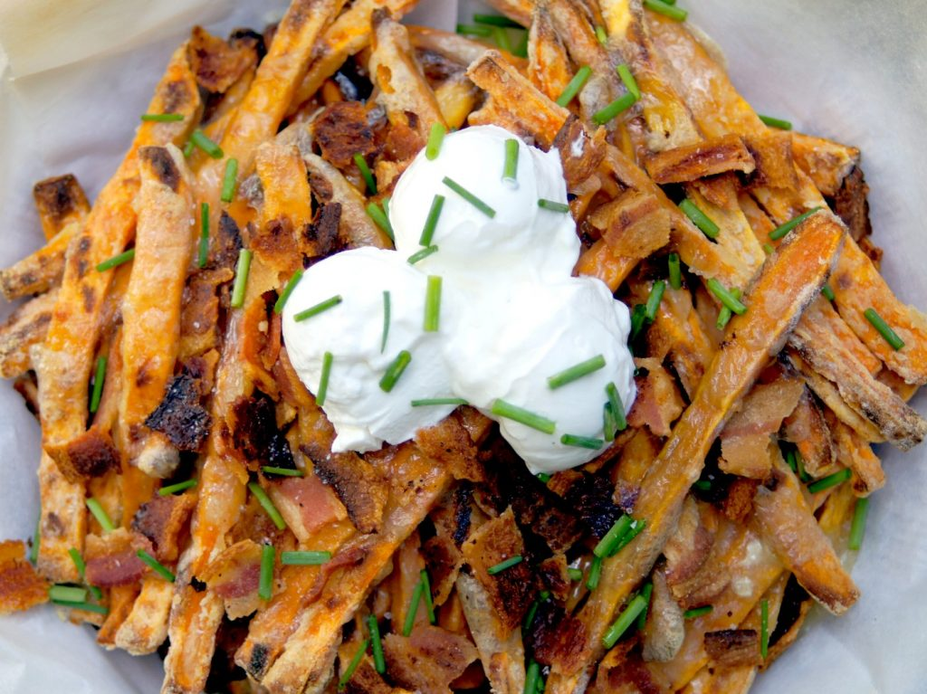 Baked Sweet Potato Brie Fries Recipe