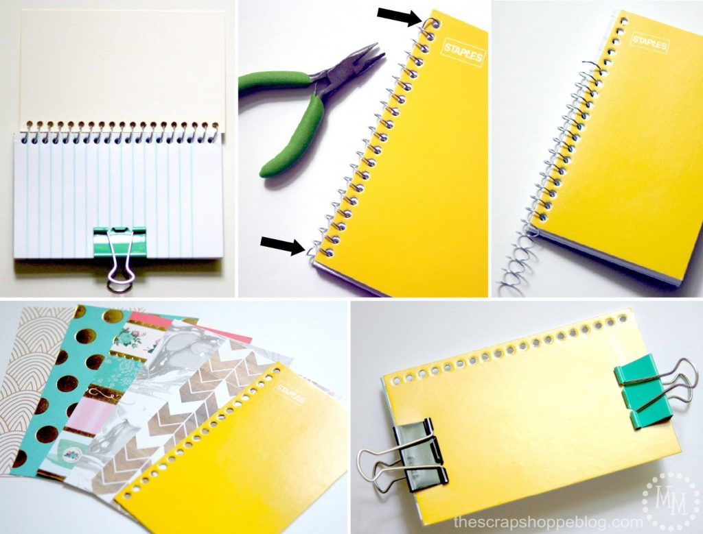 Diy trendy spiral note pads the scrap shoppe diy trendy spiral note pads solutioingenieria Gallery