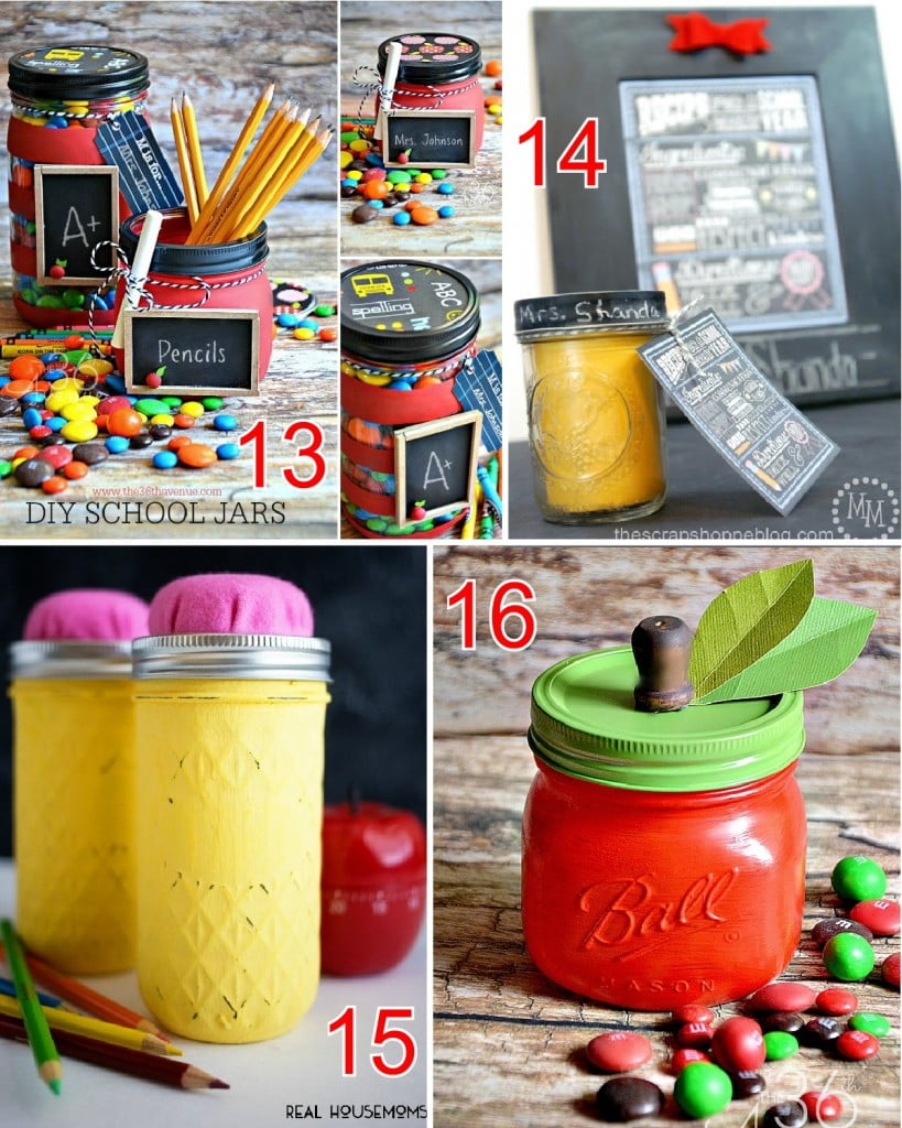 21 Mason Jar Teacher Gifts
