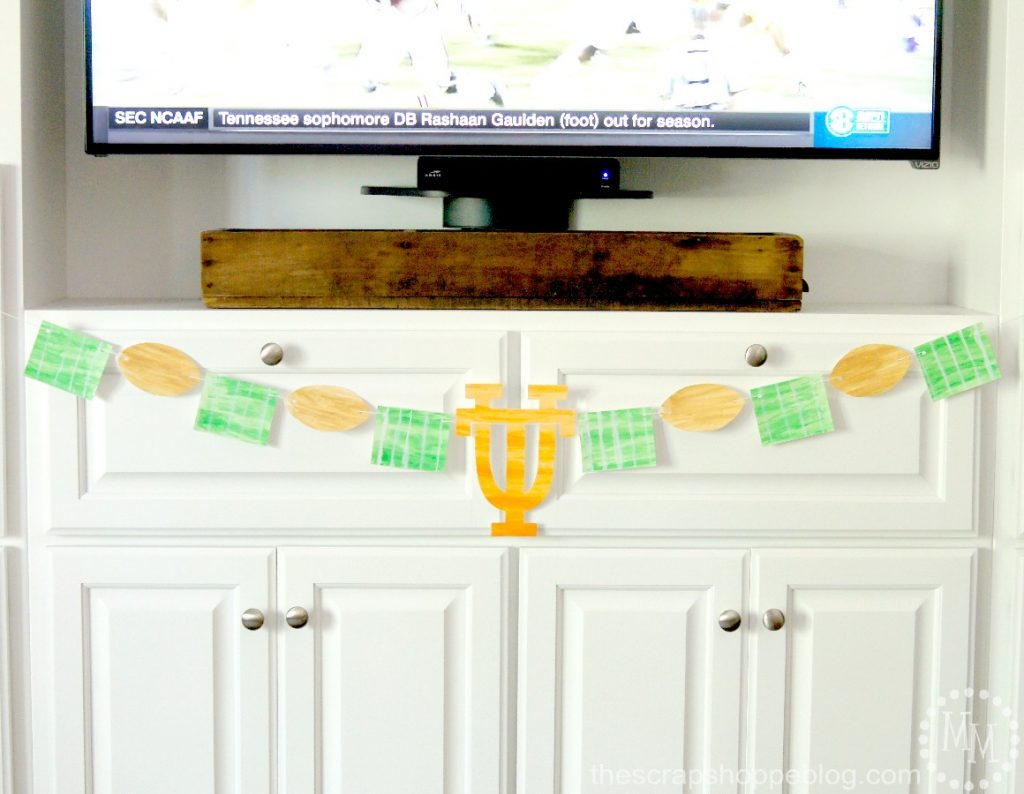 Watercolor Football Banner in your team's color or logo for game day!