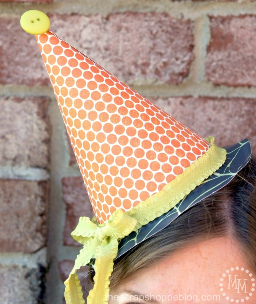DIY Paper Witch Party Fascinator Hat