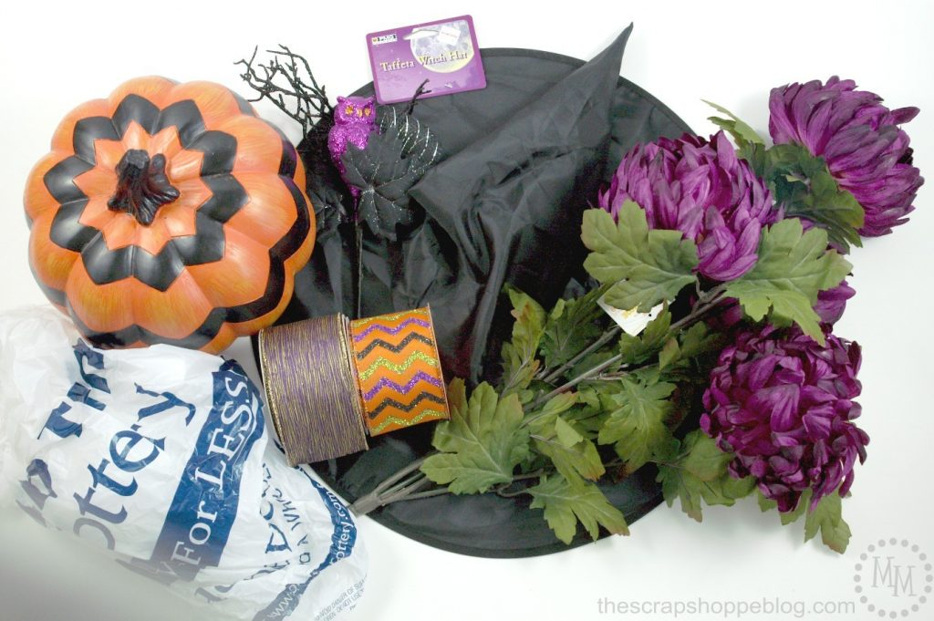 DIY Glamorous Witch Hat for your Halloween Decor!