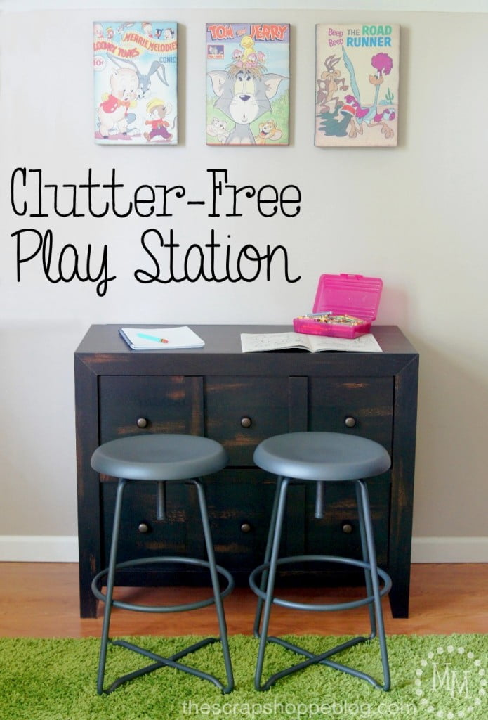 Clutter Free Play Station #SauderSpace