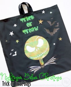 Nightmare Before Christmas glow in the dark trick or treat bags!