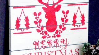Faux Pallet Christmas Canvas