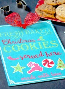 Christmas Cookies Sign - perfect for Christmas Cookie exchange parties or just setting up in the kitchen for the holidays!