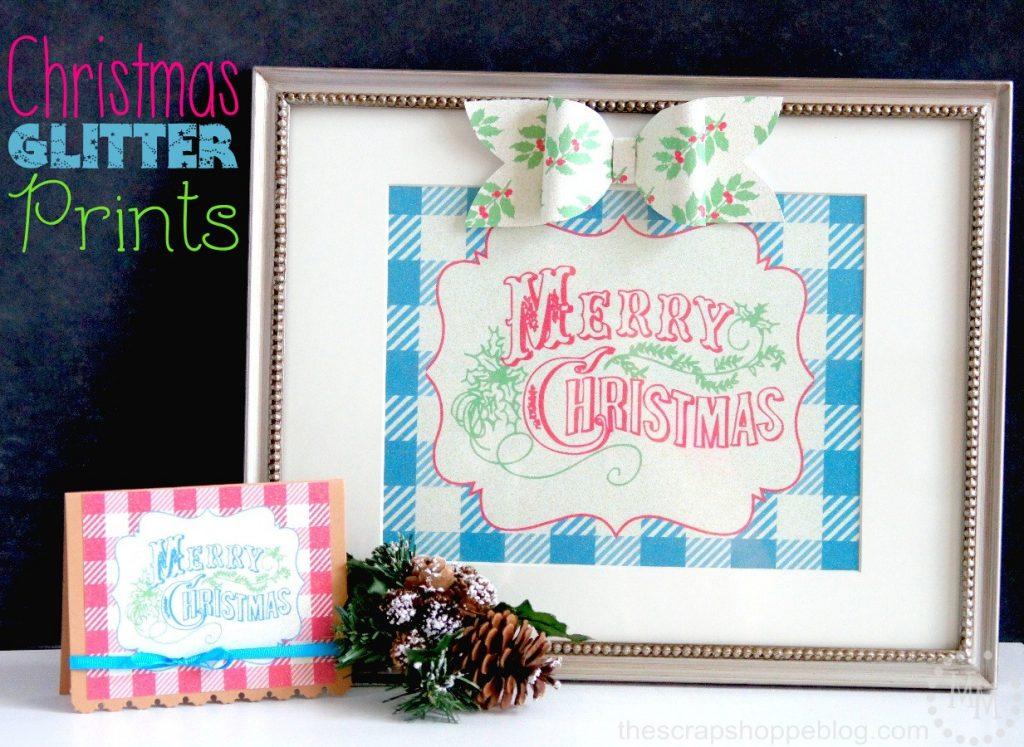 Buffalo Check Christmas Glitter Prints - Printable Inkjet Glitter Paper #InkjetGlitter