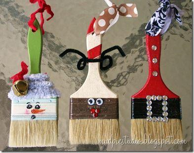 paintbrush-ornaments