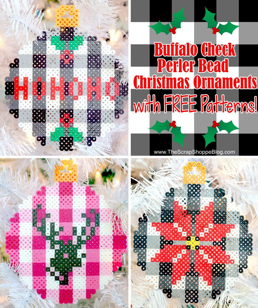 Perler Bead Patterns Christmas.Buffalo Check Perler Bead Ornaments At Design Dazzle The