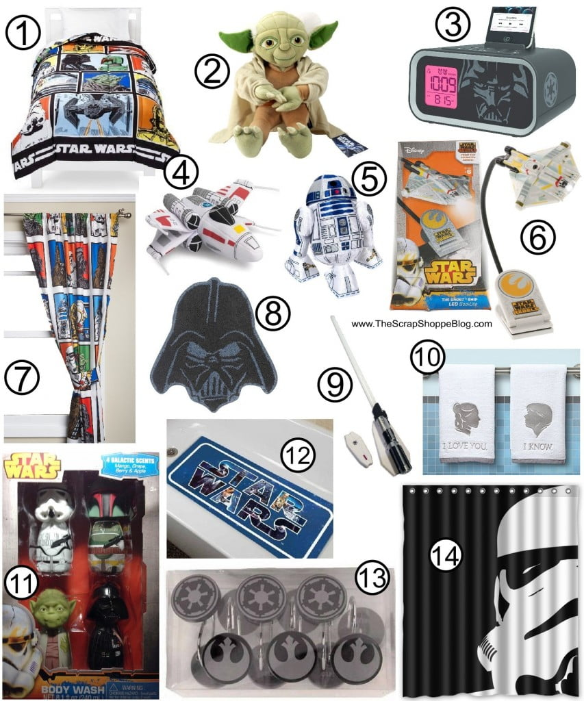 The Ultimate Star Wars Gift Guide! Bed and bath ideas for your favorite Star Wars fan!