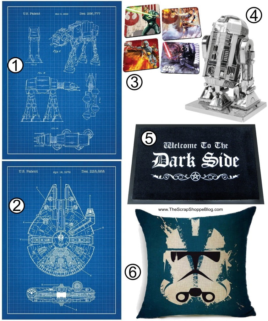 The Ultimate Star Wars Gift Guide! Home decor ideas for your favorite Star Wars fan!