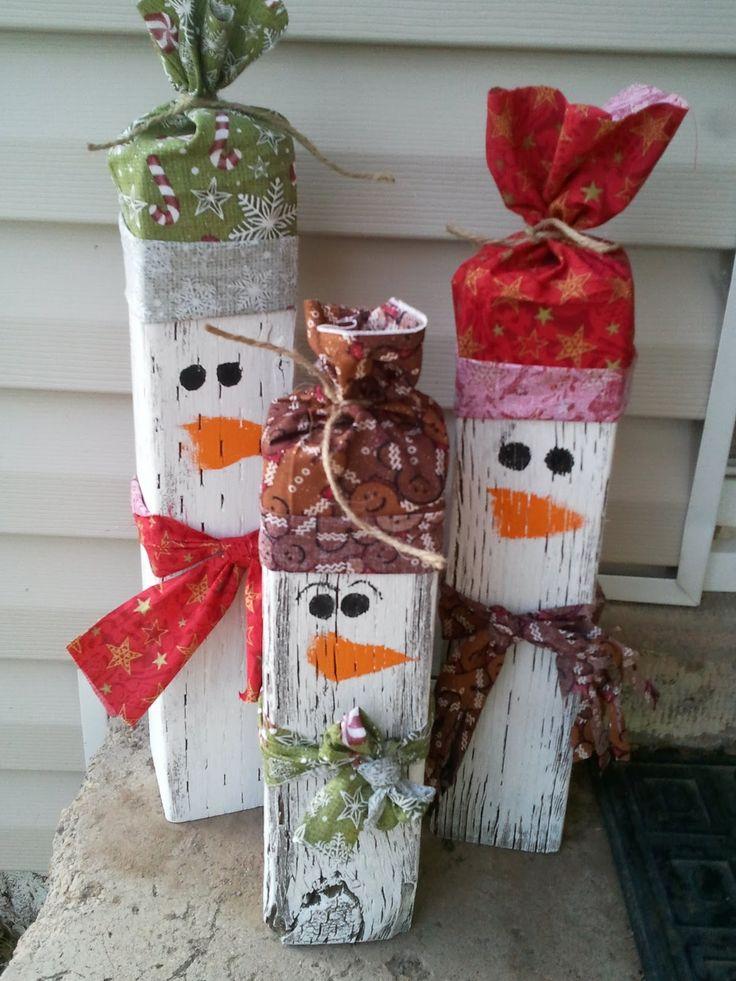 wood-snowmen