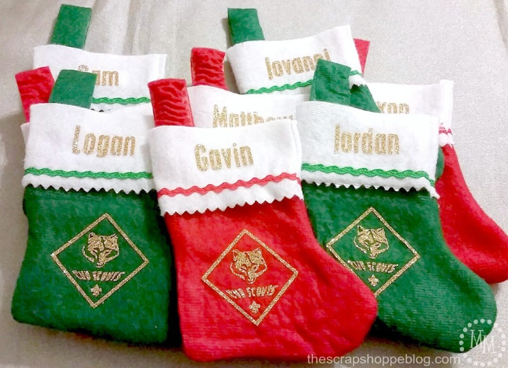 cub scout christmas stockings the scrap shoppe