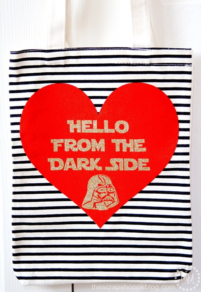 Adele meet The Dark Side Tote Bag - using gold HTV and tote from Target's $1 Spot!