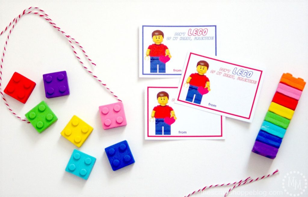 LEGO Valentines With FREE Printables   Just Print And Add A Lego!