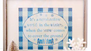 Marshmallow World Winter Print