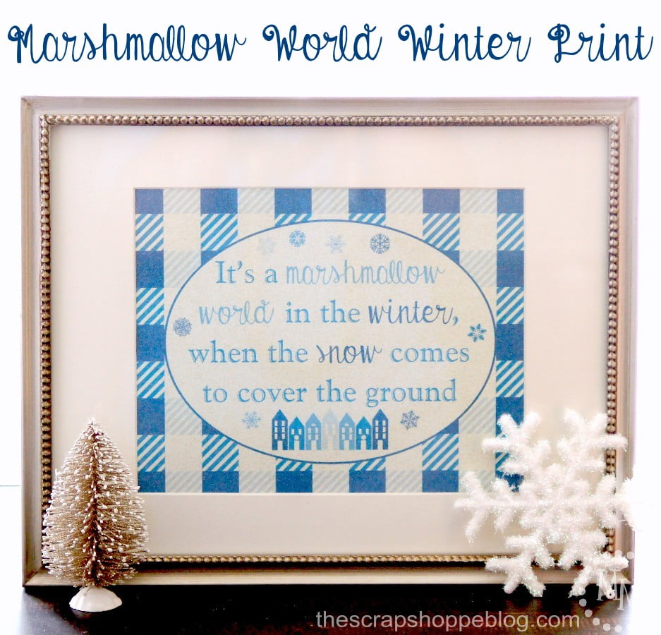 Marshmallow World Buffalo Check Winter Printable