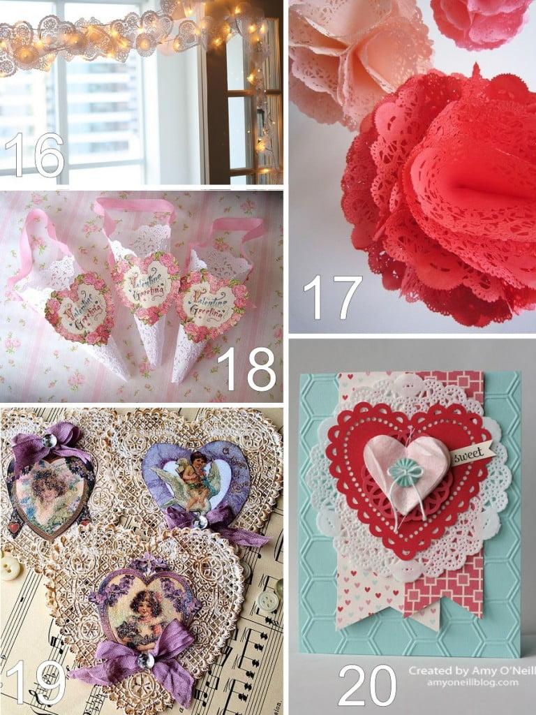 26 Paper Doily Valentine Crafts