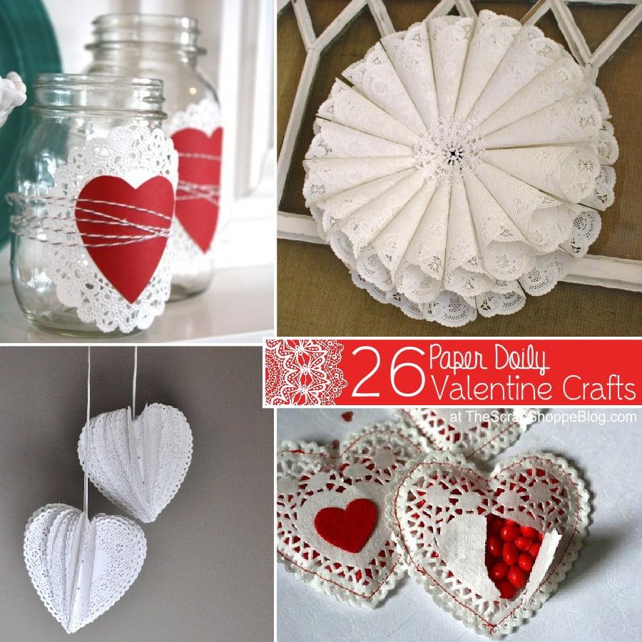 26 paper doily valentine crafts - Valentine Paper Crafts