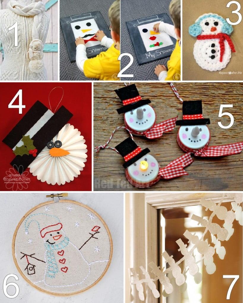 28 Winter Snowman Crafts