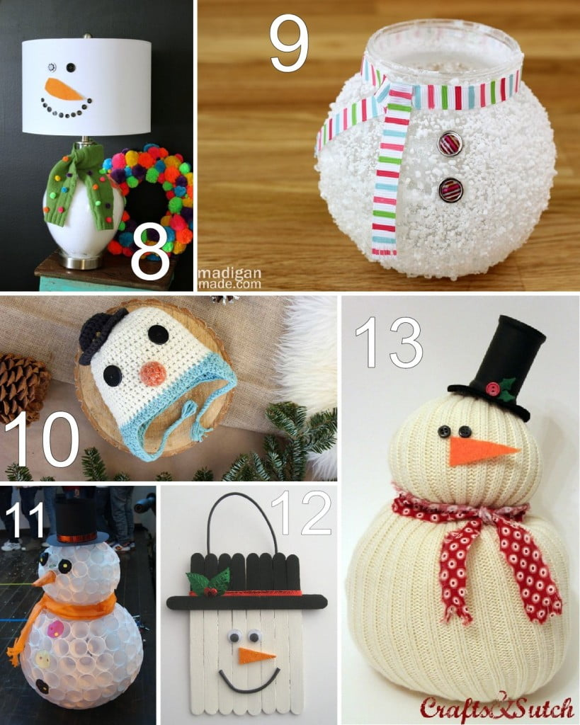 28 Winter Snowman Crafts