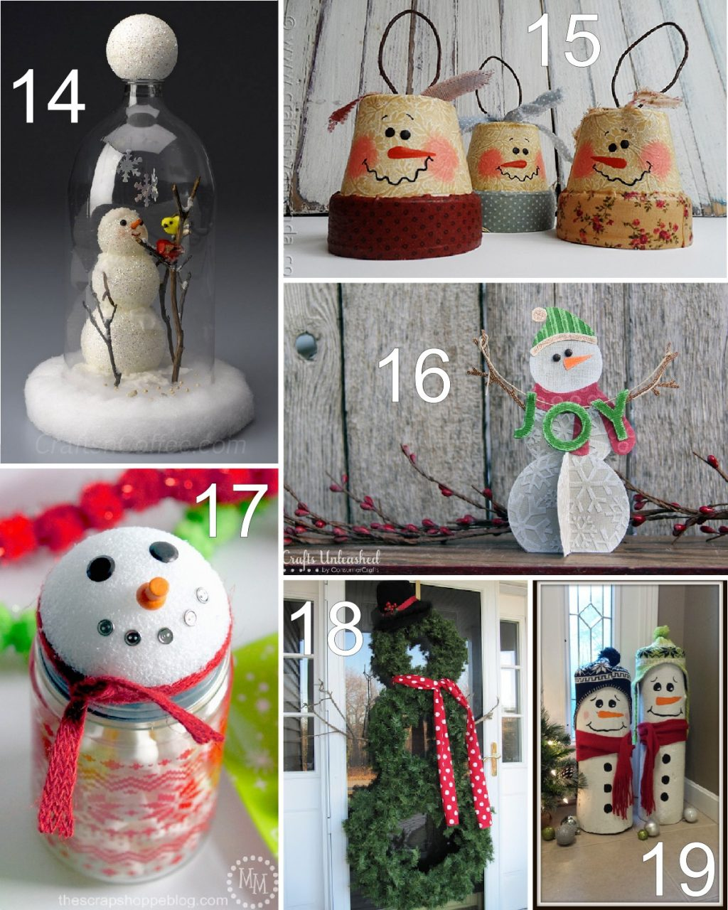 how to make a coffee tin snowman hat