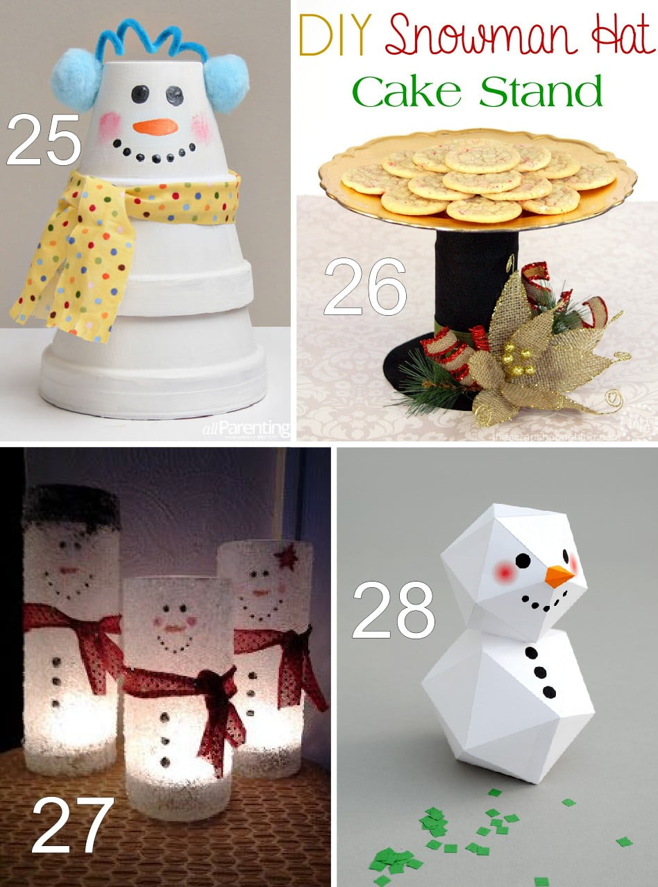 25 stacked pot snowman at all parenting 26 diy snowman hat cake stand ...