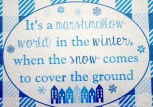Marshmallow World Buffalo Check Winter Printable
