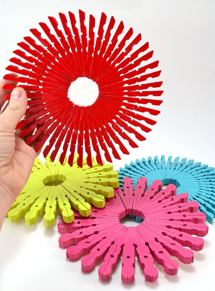 clothes-pin-trivets