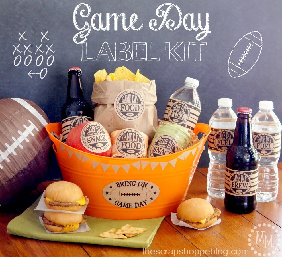 Game Day Label Kit - free printables for dressing up your snacks and beverages for the big football game!