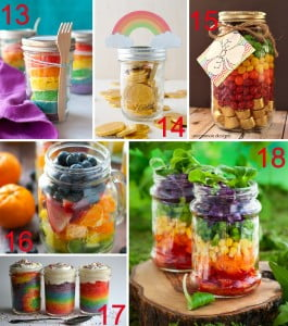 18 Rainbow Mason Jar Ideas - from crafts to recipes to lighting!