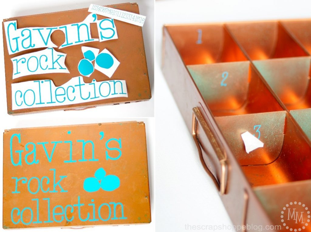 Upcycled Rock Collection Box - The Scrap Shoppe