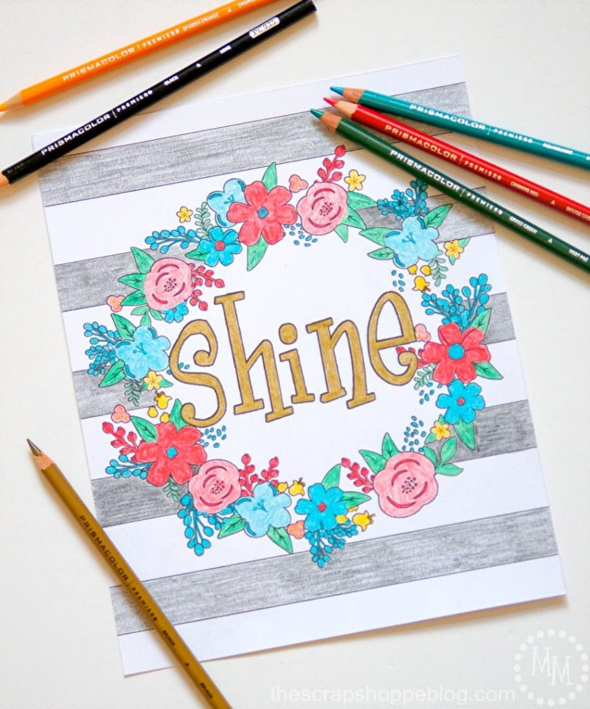Typography Adult Coloring Sheets - great therapy for adults and can be framed for home decor use! #relaxandcolor #coloringwithMichaels