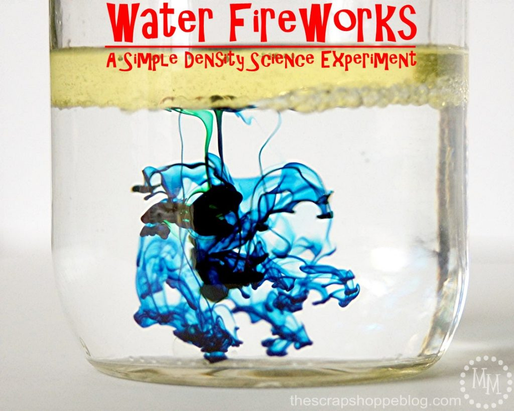 Water Fireworks - A simple science experiment that shows how density work. So easy the kids can do it!