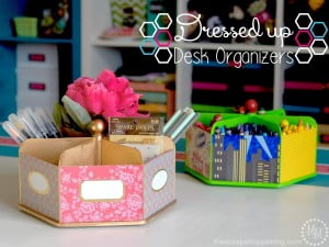 Dress Up Desk Organizers - Target Dollar Spot organizers taken to the next level!