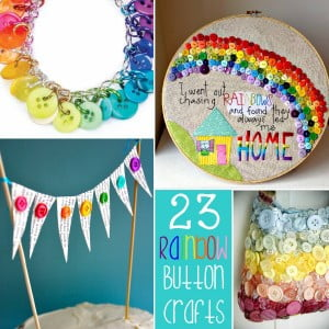 23 Super Fun RAINBOW Button Craft Ideas!