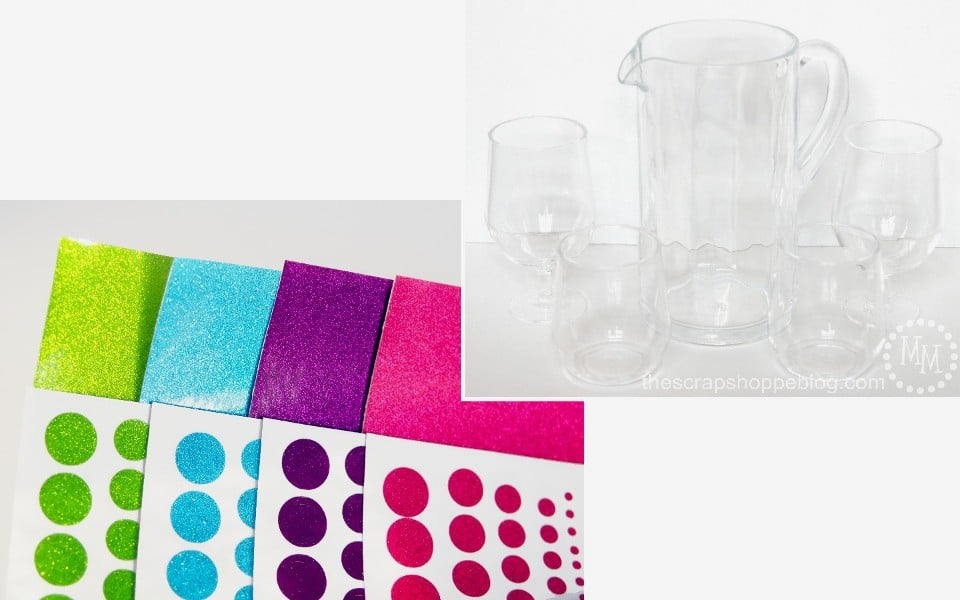 DIY Confetti Cups - perfect for a fun get together! Made with transparent glitter adhesive vinyl.
