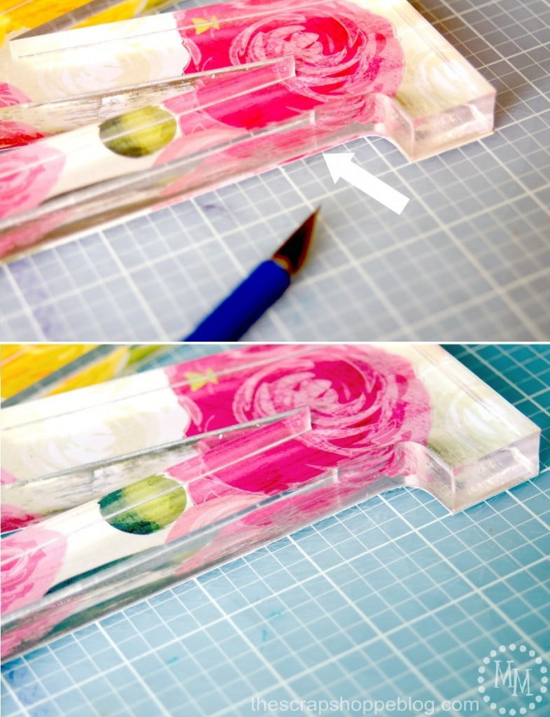 DIY Floral Acrylic Monogram - perfect for brightening up any space!