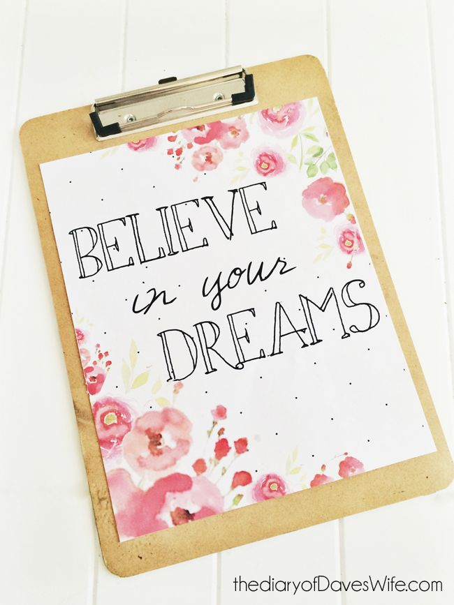 Believe in your Dreams Spring Print