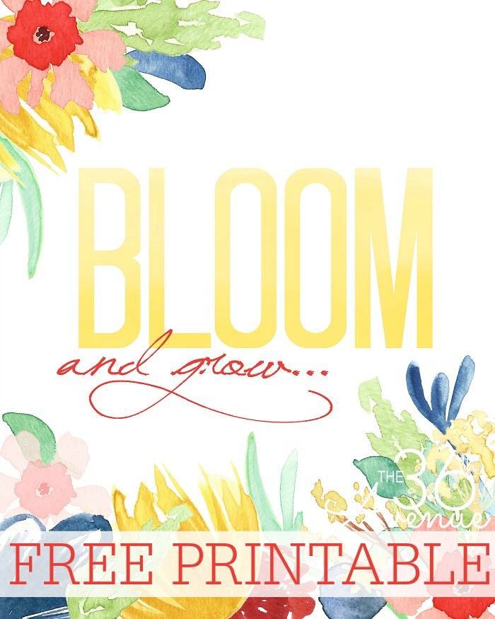 Bloom and Grow Spring Print